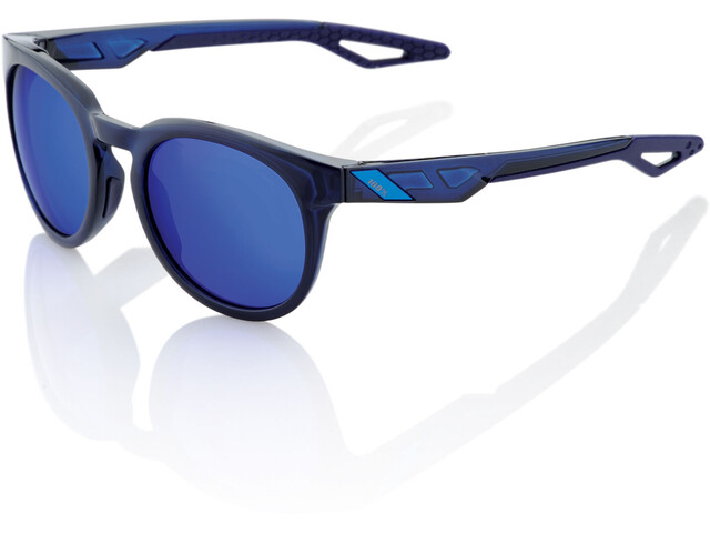 100% Campo Glasses polished translucent blue | mirror